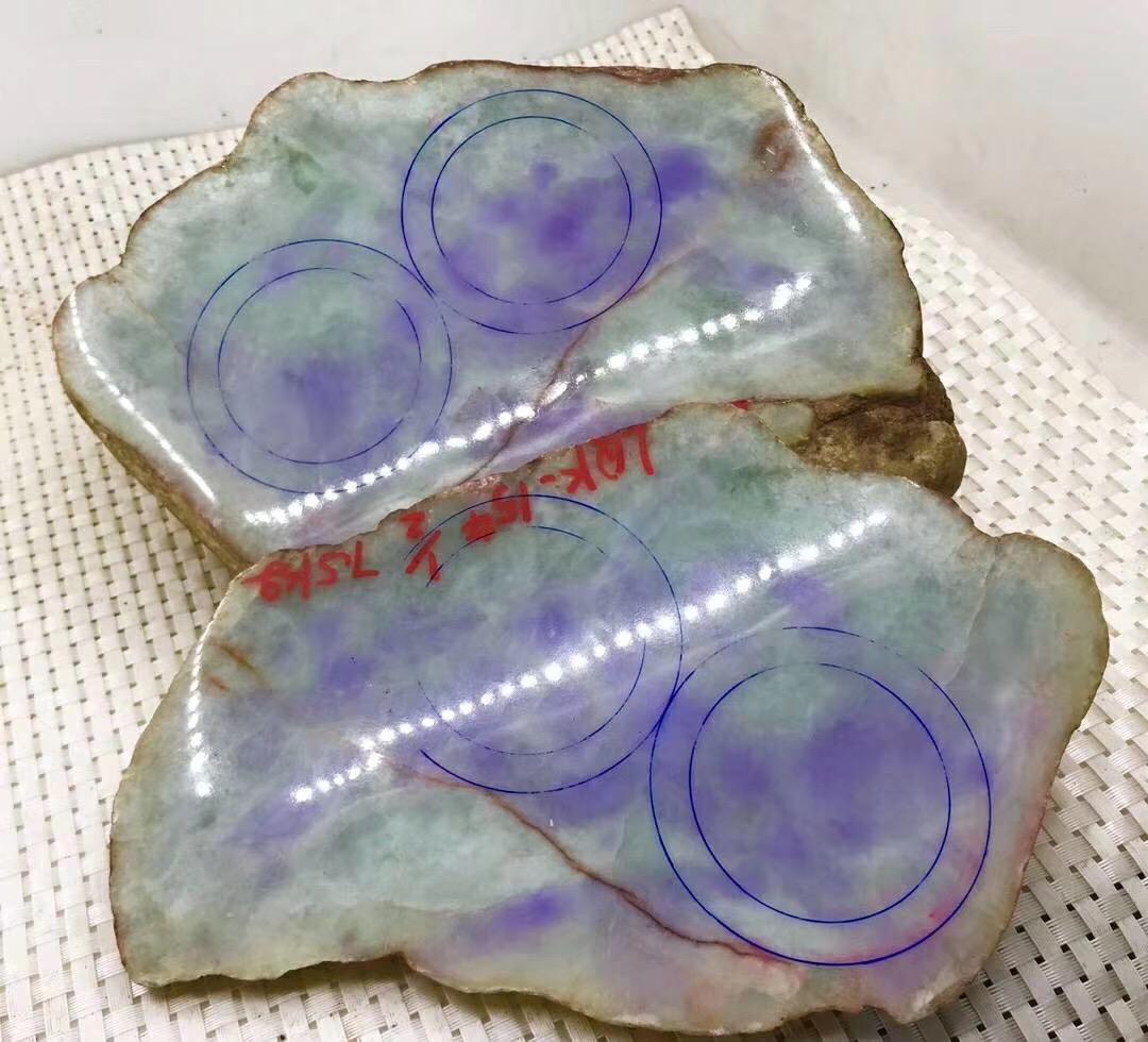 木那紫罗兰手镯片料