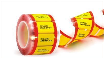 AMS—軍標級熱縮標識管  專為滿足電線電纜標識的高表面要求而設計,由輻射交聯聚烯烴制成。AMS在直接打印后即可永久標識,即使暴露在侵蝕性清潔劑、軍用燃油環境中,產品仍可以保持良好的字符辨識能力。
