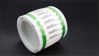 PSFR—高溫熱縮標識管   由阻燃型輻照交聯聚偏氟乙烯(PVDF)制成,專為高溫使用環境或需要抵御燃油、潤滑劑、清潔劑侵蝕的苛刻環境的線號標識而設計。亦是用于對低真空揮發很高要求的場所的理想產品。產品超薄壁厚,具有連續型和貼合型產品,均可直接打印,使用時只需使用熱風槍將標識管收縮到線纜上,即可得到永久標識。