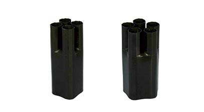 通信熱縮指套  由交聯聚烯烴材料和熱熔膠雙層構成,具有優異的密封性能