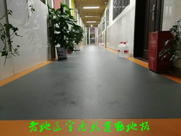 梧桐学校走廊防滑地胶项目