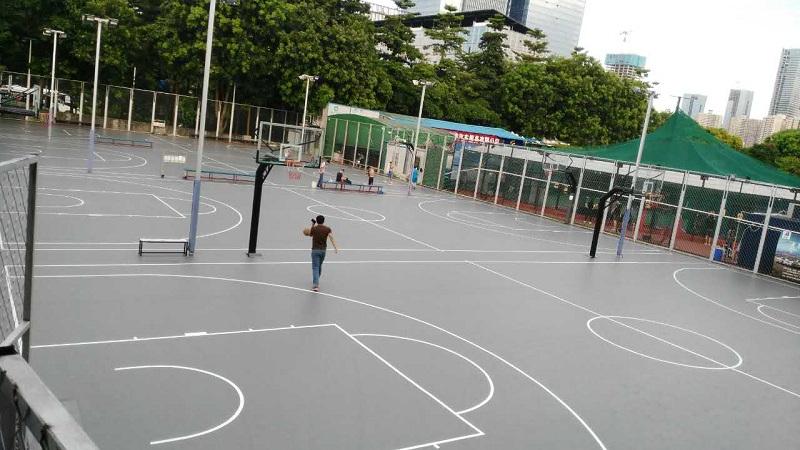 深圳南山科技园室外篮球场